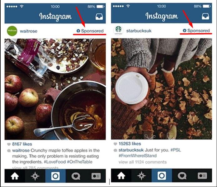 Пример естественной рекламы в социальной сети инстаграм. Читайте статью о нативной рекламе.