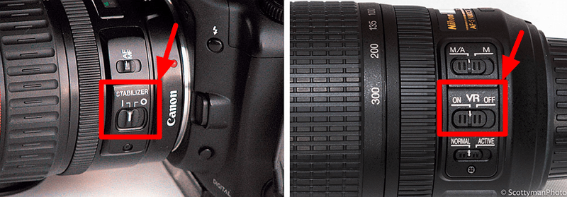 Canon и Nikon - IS и VR