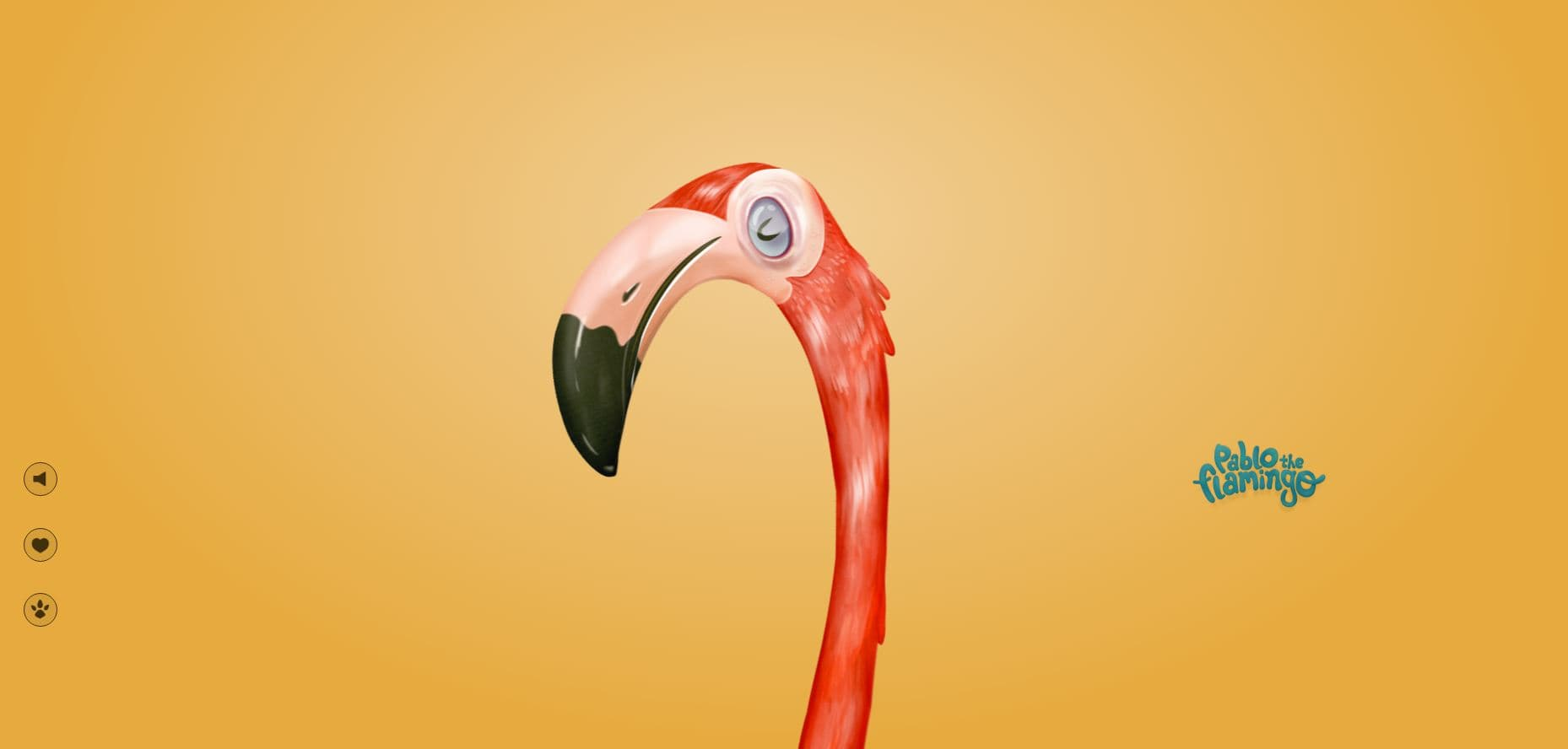 Веселый фламинго танцует