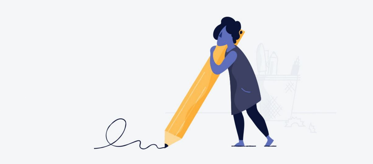 Рисует карандашом домен
