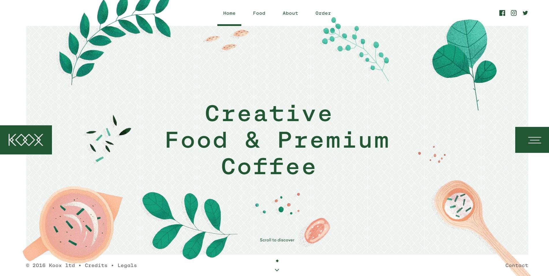 Продукты питания и премиальный кофе.